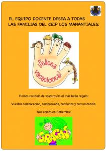 cartel agradecimiento familias